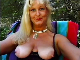 Blonde Mature Nipples Outdoor Pool Pornstar
