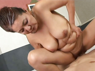 Asian Chubby Mom Old And Young Riding