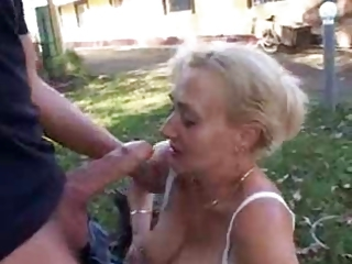Big Cock Blowjob Mom Old And Young Outdoor Public