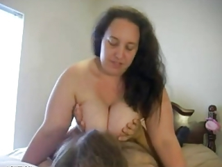 Big Tits Brunette Mature Natural Older Riding Webcam Wife