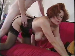 Doggystyle Hardcore Lingerie Mature Mom Old And Young Redhead  Stockings