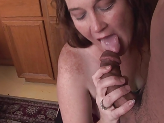 Blowjob Interracial Kitchen Mature Wife