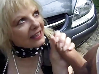 Car European French Handjob Outdoor