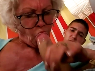 Blowjob Glasses Mom Old And Young Teacher