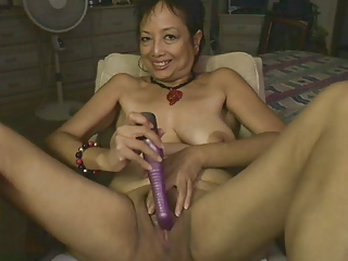 Asian Dildo Masturbating Mom  Skinny Solo Toy Webcam