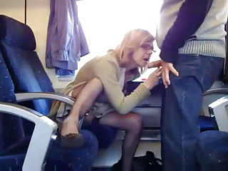 Amateur Blowjob Clothed Older Public Wife
