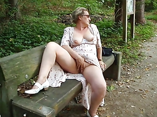 Masturbating Outdoor Public  Wife
