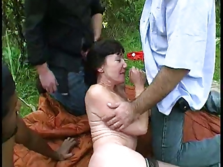 Amateur Gangbang Handjob Interracial Outdoor
