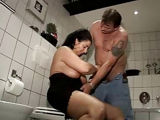 Mature Older Toilet Wife