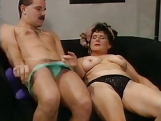 Lingerie Mom Old And Young Panty Vintage