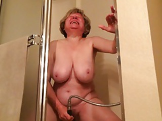 Amateur Big Tits Masturbating Mom Natural Orgasm  Showers Solo