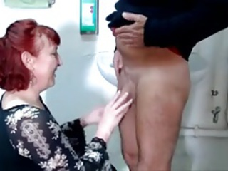 European German Handjob Older Redhead Wife