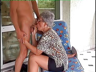 Blowjob Clothed European German Glasses Mom Old And Young
