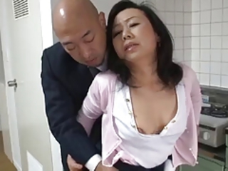 Asian Japanese Mom Old And Young Secretary