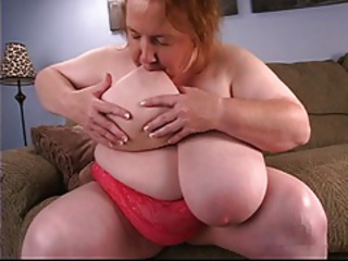 Big Tits Licking Mom Natural Nipples Solo