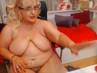Blonde Chubby European French Glasses  Solo Teacher Webcam
