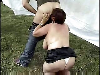 Chubby European Farm French Licking Mom Old And Young Outdoor