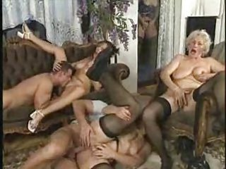 Groupsex Hardcore Mom Old And Young Orgy Stockings