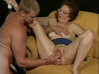 European German Glasses Mom Old And Young Pussy