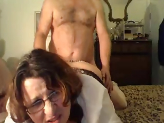 Doggystyle Glasses Older Webcam Wife