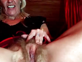 Clit Close up Hairy Masturbating Pussy Webcam