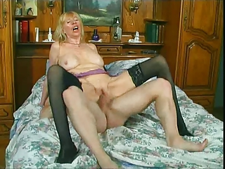 European French Hardcore Mom Old And Young Riding Stockings