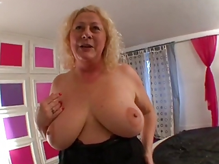 Big Tits Blonde European French Natural  Stripper