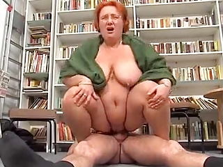 Big Tits Chubby Glasses Hardcore Natural Redhead Riding  Teacher