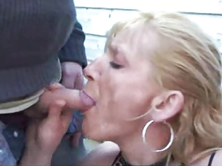 Blowjob Clothed European French Outdoor