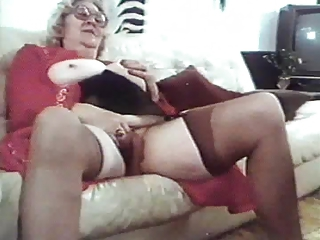 Glasses Masturbating Mom Stockings Vintage