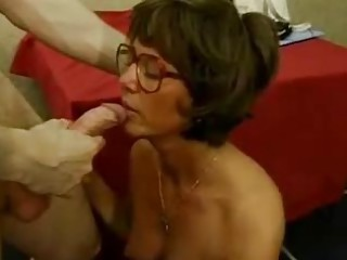 Big Cock Blowjob European French Glasses Old And Young Teacher