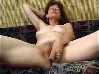 Hairy Masturbating Skinny Solo Toy Wife