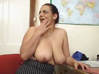 Big Tits Glasses Mature Natural  Teacher