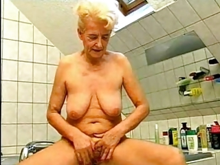 Bathroom Big Tits Blonde Masturbating Natural