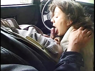 Blowjob Car Clothed Mature Older Small Cock