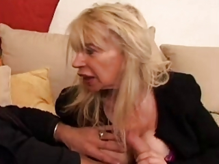 Blonde European French Handjob