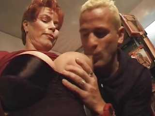 Big Tits European French Licking Mom Nipples Old And Young Redhead