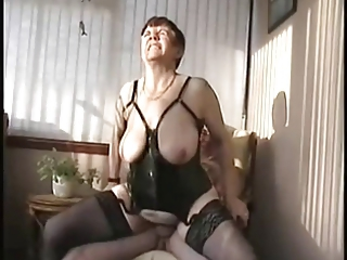 Amateur Big Tits Corset Hardcore Lingerie Natural Older Riding  Stockings Wife