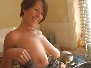 Amateur Big Tits Homemade Kitchen Mature Natural Nipples Pov  Stripper Wife