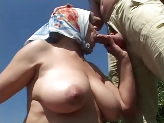 Big Tits Blowjob Natural Outdoor