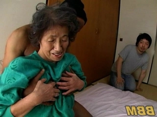 Asian Granny Old And Young Threesome